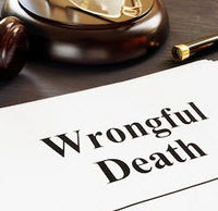"Paper on a desk that says ""wrongful death"""